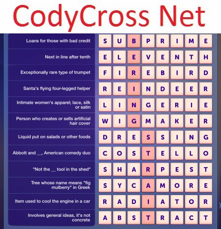 Crossword For Car Loans